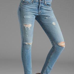 Rag & Bone Skinny Distressed Jeans Munoz Wash 30